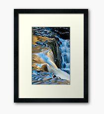 Pump Pwll Waterfall Vale of Neath Framed Print