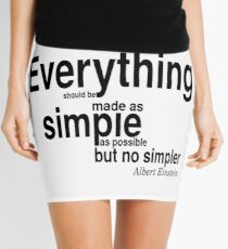 Minifalda ALBERT EINSTEIN Pop Art