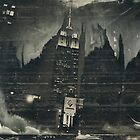 Empire At Night (Wet Plate Collodion Tintype) by Kevin Koepke