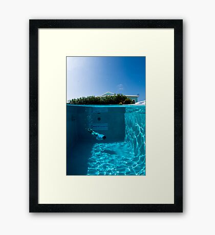 Diving the Hotel Pool Framed Print