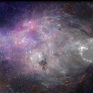 Wormhole Starry Galaxy - Purple, Pink, Gray, Black by smaddingly