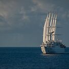 The Windstar Ship Club Med 1 off the Coast of St. Lucia by Gerda Grice