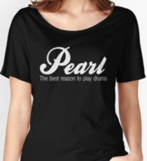 White Pearl  Drums Women's Relaxed Fit T-Shirt