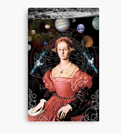 Center of her universe Canvas Print