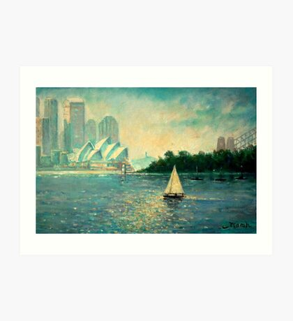 Into the Light Sydney no border Art Print