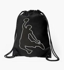 Basketballer Dunking Design Turnbeutel