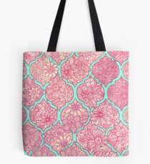 Moroccan Floral Lattice Arrangement - pink Tote Bag
