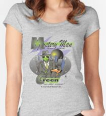 green on the scene Women's Fitted Scoop T-Shirt