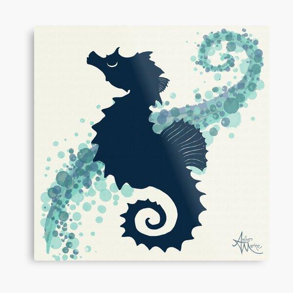 Seahorse Silhouette, by Amber Marine © 2015 Metal Print