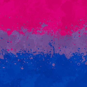 Bisexual Flag Action Painting - Messy Grunge by GrizzlyGaz