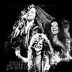 Janis Joplin Black and White - digitale Farbe von Iona Art Digital von IonaArtDigital