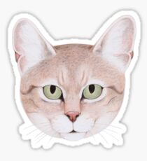 African Wildcat Glossy Sticker