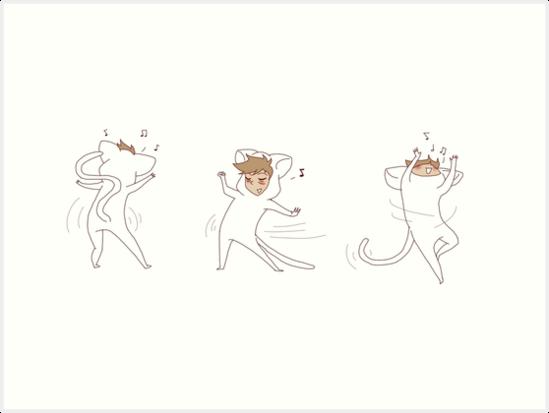 dancing weird cats by wade-ebooks
