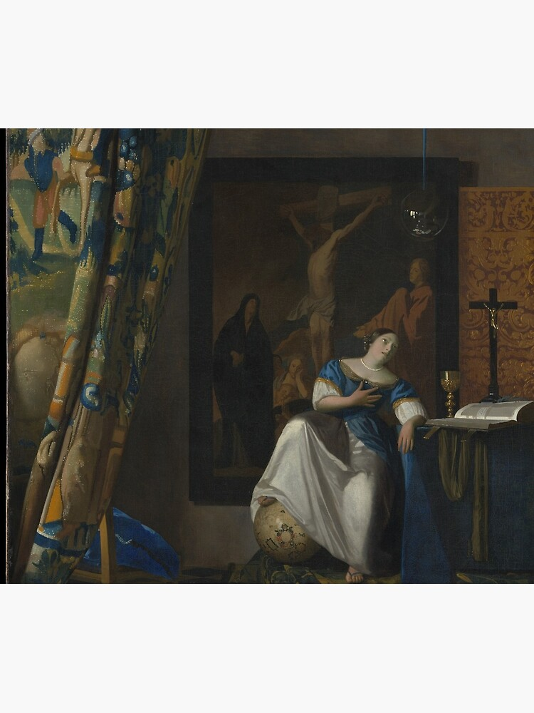 Johannes Vermeer. Allegory of the Catholic Faith, 1670-72. by museumshop3