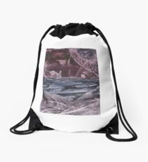 Ocean in Cave Drawstring Bag