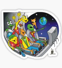 there is earth! Sticker