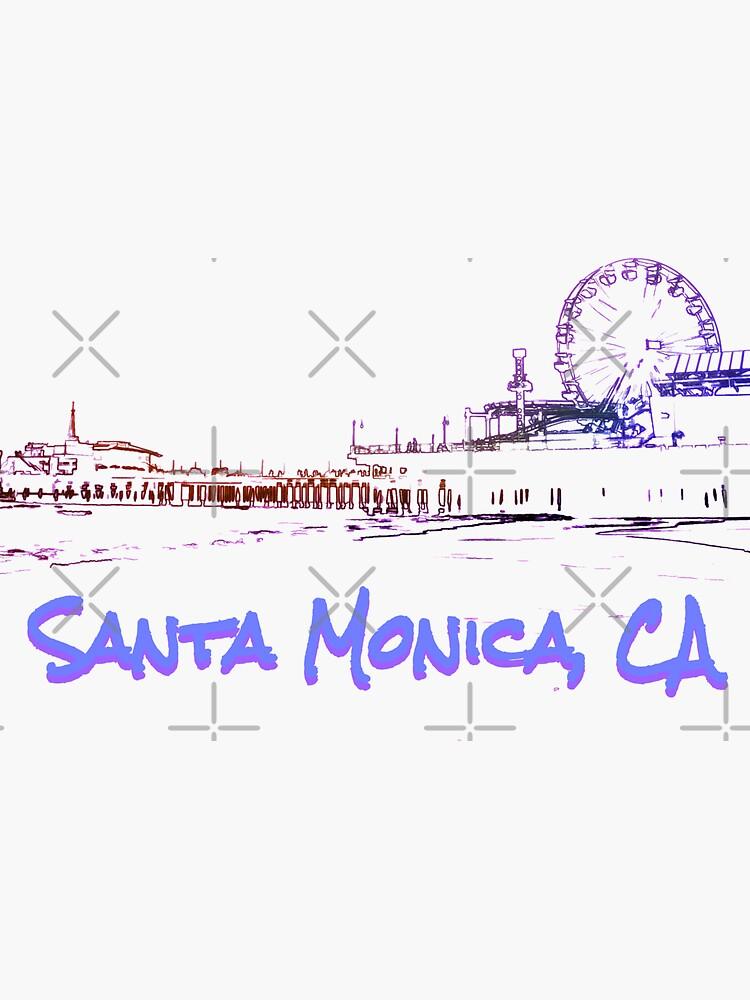 Santa Monica, CA Silhouette by stine1