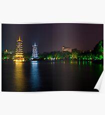 Guilin Pagodas Poster