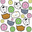cute kitty donut print by effisummers