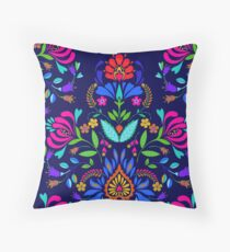 folk pattern - mexican vacation.  Throw Pillow