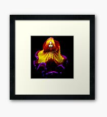 Red Riding Hood - A New Perspective on Orchid Life Framed Print
