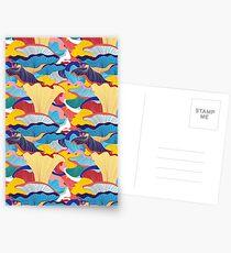 pattern of mushrooms Postkarten