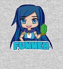 Blue haired Manga Funneh Kids Pullover Hoodie