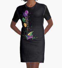 Karneval Mardi Gras Narrenkappe Luftballons T-Shirt Kleid