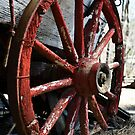 Old Wagon Wheel by Christopher R. Watts