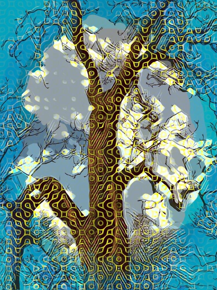 « Esprit du vent; Bleu. » par Bo Jones
