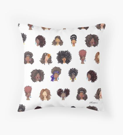 How To Be Curly Allover Throw Pillow