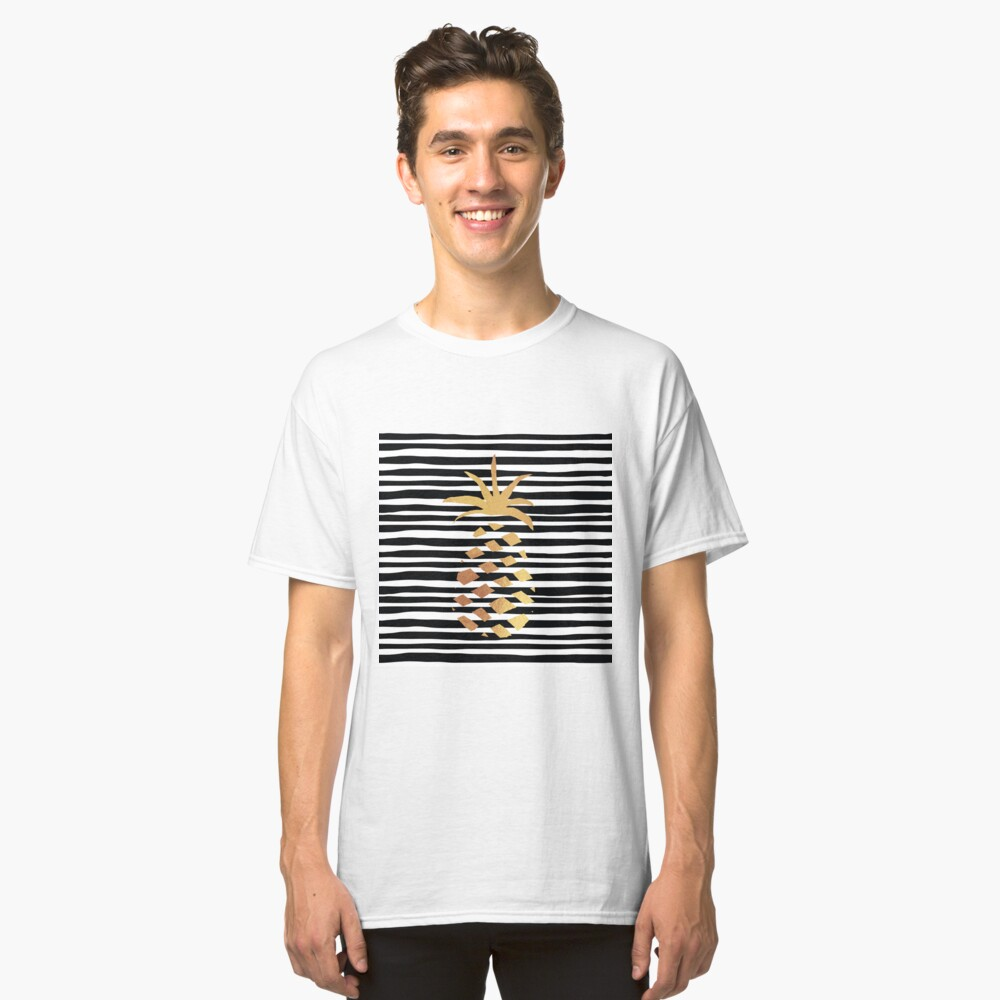 Gold Pineapple-B&W Classic T-Shirt