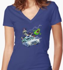 The Real Ghostbusters Women's Fitted V-Neck T-Shirt