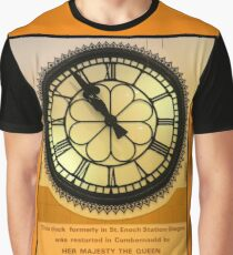 The Clock in the Plaza Graphic T-Shirt
