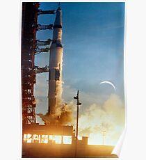 Saturn V Raketenstart Poster
