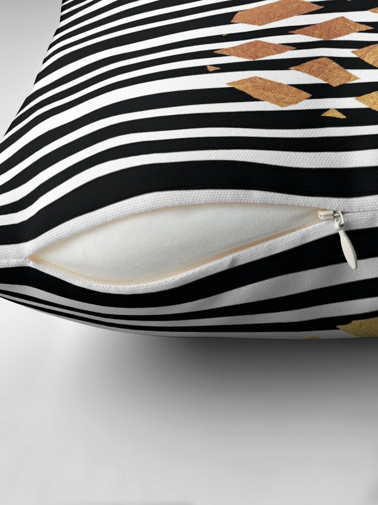 Alternate view of Gold Pineapple-B&W Throw Pillow