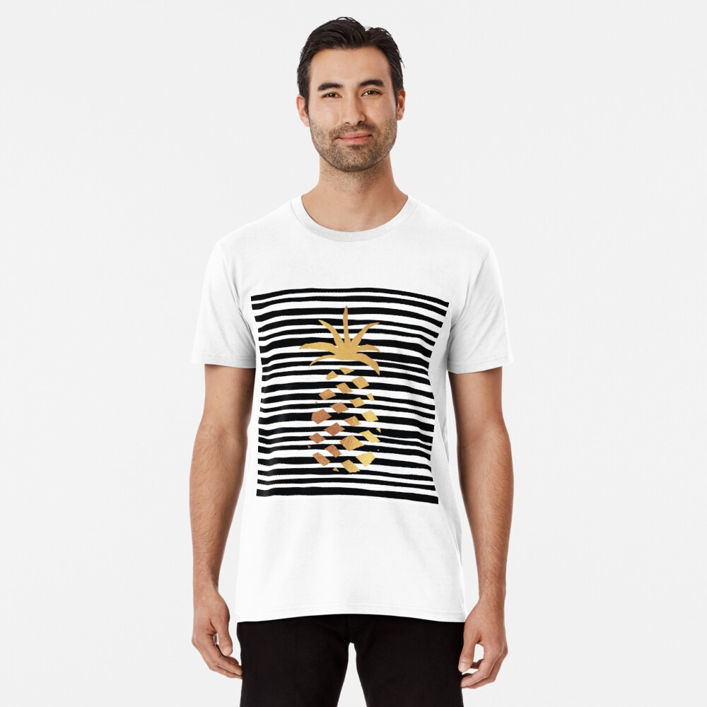 Gold Pineapple-B&W Premium T-Shirt