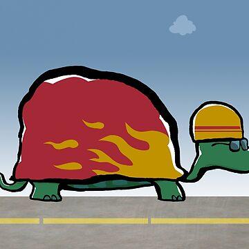 racing turtle by greendeer
