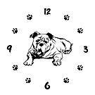 Bulldog Unisex Clock. Bulldog Owner Gift by KsuAnn