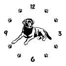 Black Labrador Wall Clock. Black Labrador Owner Gift by KsuAnn