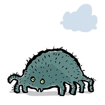 little hairy spider by greendeer
