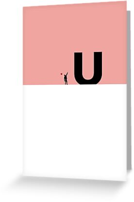 Love U - Man holding love balloon Valentine's Day Card by tothepoint