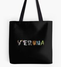 Verona Animal Sticker Tote Bag