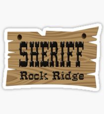 Sheriff Rock Ridge Sticker
