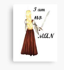 I am no man Canvas Print