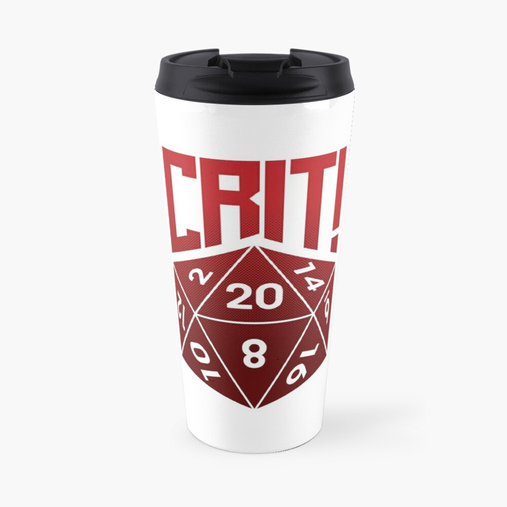 Crit Success - Red Travel Mug