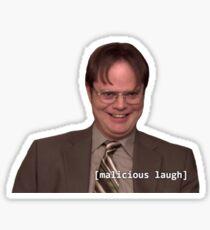 Dwight & His Villainous Plot Sticker