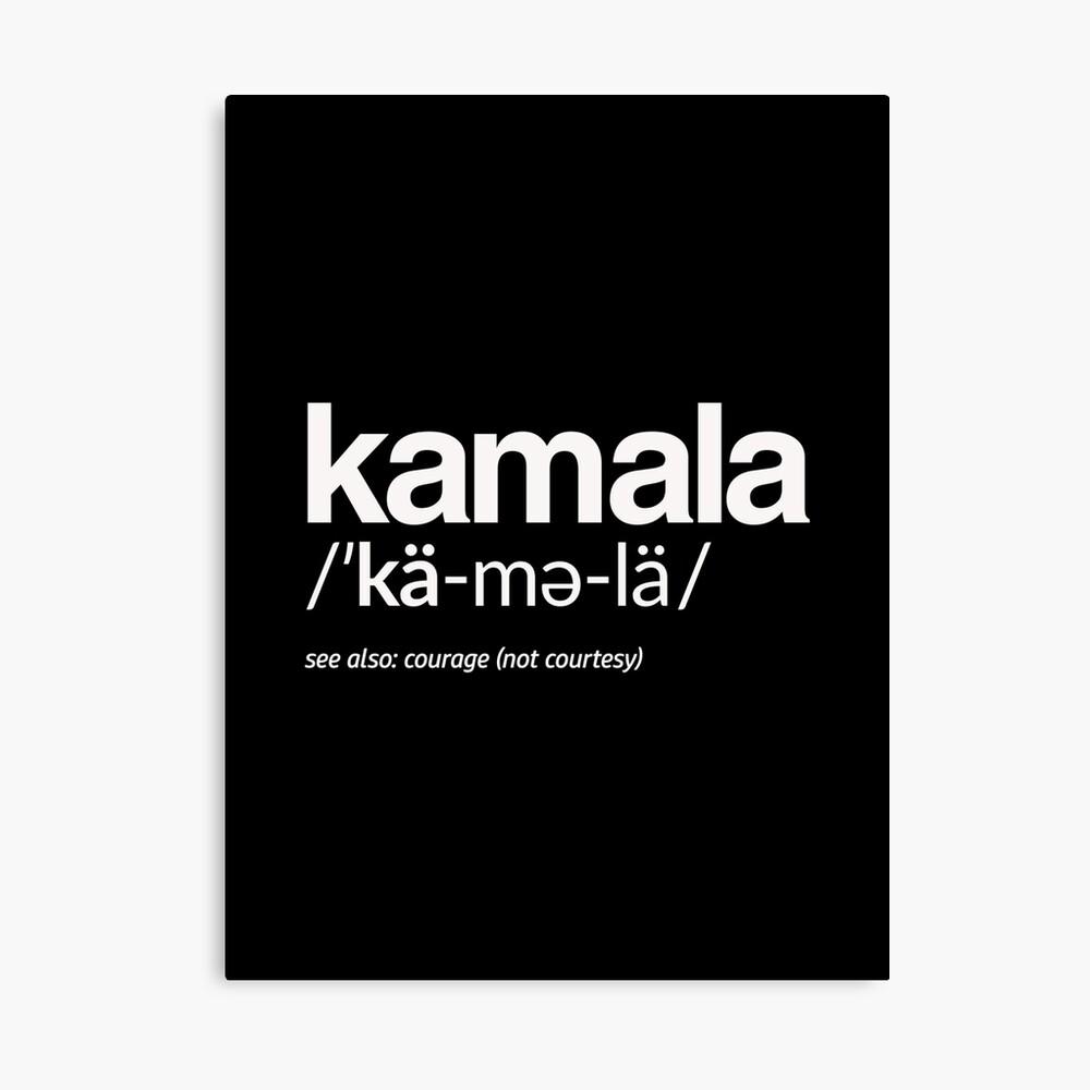 Kamala Harris 2020 Aussprache und Definition Leinwanddruck