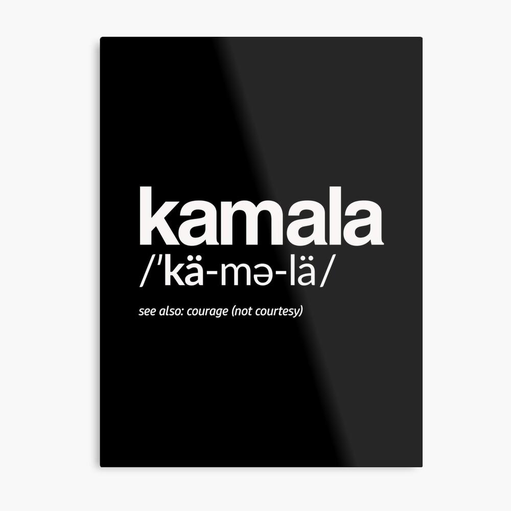 Kamala Harris 2020 Aussprache und Definition Metallbild