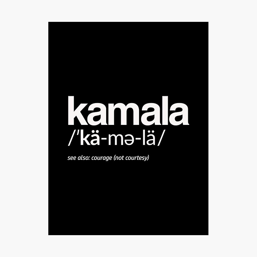 Kamala Harris 2020 Aussprache und Definition Fotodruck